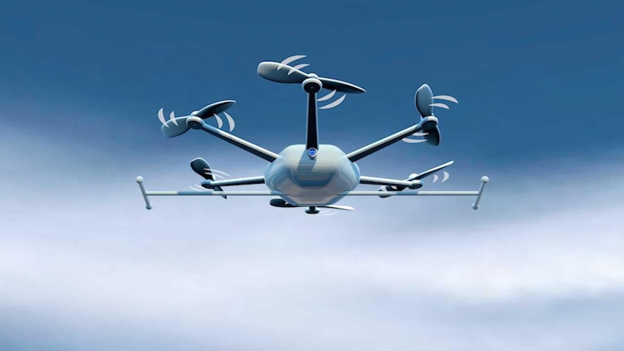 3D drone logo animation 1 - Portfolio