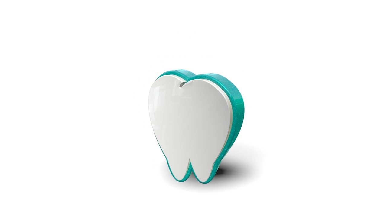 3D logo teeth animation 1 - Portfolio