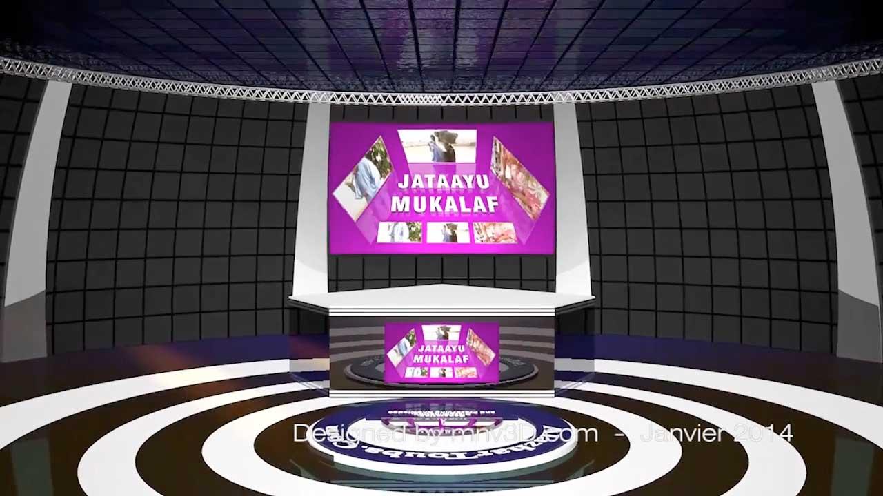 Studio Virtuel Television 3D Cinema4D - Portfolio